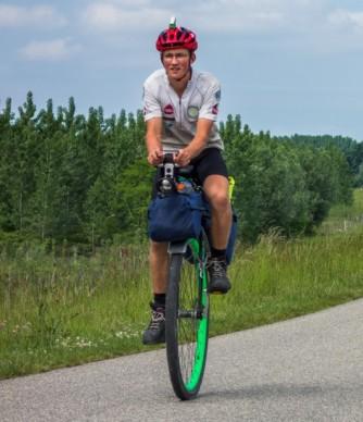 Ed Pratt - http://www.worldunicycletour.com/