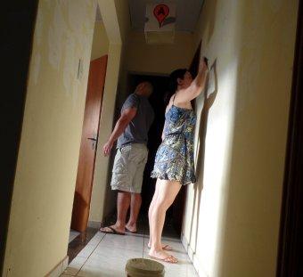 rebocando parede